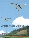 태양풍 램프 포스트와 공도 소통량 램프 포스트