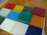 2-6mm Colorful Back Painted Glass, White, Cappuccino Color/Varnished Glass