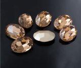 De beste Fabriek van de Steen van de Diamant van het Glas van de Steen van het Kristal van het Bergkristal van de Bergkristallen van Pointback van het Kristal (tP-Ovaal 13*18)