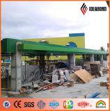 Materiaal van de Bekleding van de Muur van Filippijnen van de Uitvoer van Ideabond het Groene 4mm Buiten (af-35F)