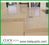 Comptoir stratifié de quartz blanc Bar Top avec veines gris