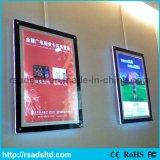 アクリルの水晶細いライトボックスを広告する最もよい価格LED