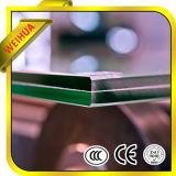 Glace plate ou incurvée d'étage stratifiée par sûreté claire pour la glace de balustrade d'escalier de construction