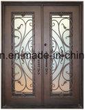 Porta de entrada de ferro de bronze com boa qualidade e baixo preço