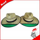 Chapéu de vaqueiro natural de Sun Panamá da palha da cavidade da palha