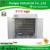 Incubateur automatique certifié par ce d'oeufs de poulet de Digitals pour 2000 oeufs