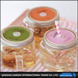 Tarro de vidrio colorido Maosn sin mango y la paja