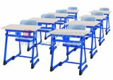 Escuela Muebles Escritorio de madera y sillas de plástico