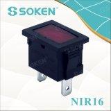 Indicatore luminoso di indicatore miniatura di Nir16 12V/24V con la lampadina 21*15mm del riso
