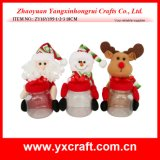 Decoração do frasco dos doces do frasco do Natal