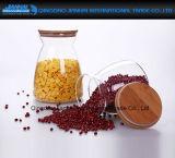 bottiglie di vetro di memoria della radura dello Spiceberry 700ml con i coperchi di legno