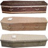 Caixão tradicional de Bamboo Handwoven tradicional para o mercado do Reino Unido
