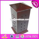 Forme carrée à bon marché de gros brûleur encens en bois pour l'arabe W02A262