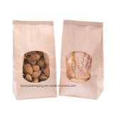 Bäckerei-Beutel, Brown-Papierbeutel, Zinn-Gleichheit-Tabulatorverschluss-Beutel