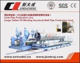 Grande PE do calibre que enrola a linha de produção da tubulação da parede estrutural