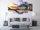 HD afgedrukt het Springen het Schilderen van de Kunst van het Landschap van Vissen Canvas mc-015 van het Beeld van de Affiche van het Af:drukken van het Decor van de Zaal van het Af:drukken van het Canvas