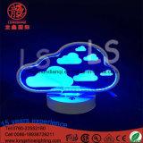 Teken van het Neon van de LEIDENE het Acryl Bewolkte 22cm Batterij In werking gestelde Afstandsbediening voor Schemerlampen