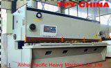 Máquina de corte de la guillotina hidráulica de la placa de acero de QC11Y