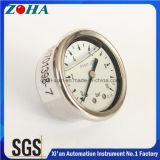 En837-1 Manómetros com miniatura em óleo com caixa Ss Conector traseiro de bronze Alta qualidade
