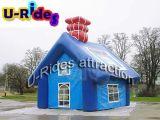 Karikatur Aufblasbares Haus Zelt für Kinder im Freien