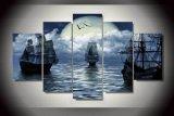 HD ha stampato la pittura del mare di navigazione della luna di fantasia sulla tela di canapa Mc-112 della maschera del manifesto della stampa della decorazione della stanza della tela di canapa