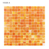 Mosaico Iridescent bianco di vetro della parete dei materiali da costruzione