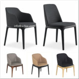 (SD1014) Modern Hotel Furniture Frame de madeira Leather Upholstery Restaurant Dining Chair
