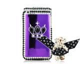 iPhoneの水晶3G/3GSのための礼儀シリーズは特別なくまの紫色を包装する