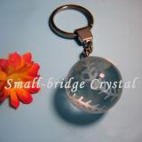 3D bola cristalina Keychain (ND3075)