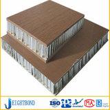 Painel de sanduíche de alumínio do favo de mel da grão de madeira para materiais de construção do revestimento da fachada
