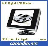 2つのAVの入力が付いている3.5inchデジタルTFT LCDのディスプレイ・モニター