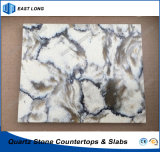 Lastra di pietra artificiale del quarzo per materiale da costruzione con lo SGS & il certificato del Ce (colori di marmo)