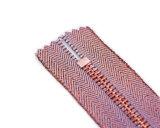 Zipper do metal com o extrator cor-de-rosa da torneira e da fantasia/qualidade superior