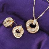 アフリカのラインストーンの水晶女性の合金の新しい宝石類のネックレスセット
