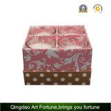 velas votivas de cristal perfumadas de la fragancia 4pk en los rectángulos de regalo para la promoción casera de la decoración y del regalo