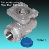 La inversión 2PC Válvula de bola de acero inoxidable Fundición