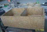 Оптовая тщета ванной комнаты Countertop кухни слябов G682 гранита Yuenan золотистая