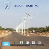 luz de calle solar de la batería de litio 30W de los 8m