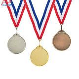 Qualitäts-Basketball-Abzuglinie-Metallmedaille für 1., 2., 3. anpassen