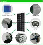 Mono панель солнечных батарей 100W для домашней электрической системы