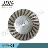 100mm 알루미늄 바디 다이아몬드 터보 컵 바퀴