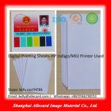 Impressão de jato de tinta branca Material de cartão de identificação de PVC