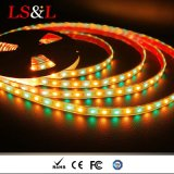 5050 RGB+Amber DC12V/DC24V tiras de corda de LED de luz com marcação CE & RoHS