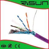China-Fertigung-bestes Preis CCAlan-Kabel abgeschirmtes CAT6 (F/UTP CAT6)