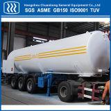 Líquido criogénico del tanque cisterna de transporte Semi Remolque