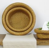 (BC-ST1071) Da forma manual pura do gato da boa qualidade cesta natural da palha