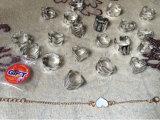 20PCS Ringen van de Tatoegering van de Vinger van de Zigeuner van de Legering van het zink de Uitstekende Zilveren Regelbare