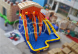 Diapositiva de agua inflable de la isla anaranjada del chapoteo (CHSL343)