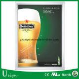 Реклама стопорное рамы Тонкий светодиодный свет в салоне плакат в держатель для пива