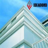 El panel de pared de aluminio barato del revestimiento de la plata externa de la pared de Ideabond (AF-408)